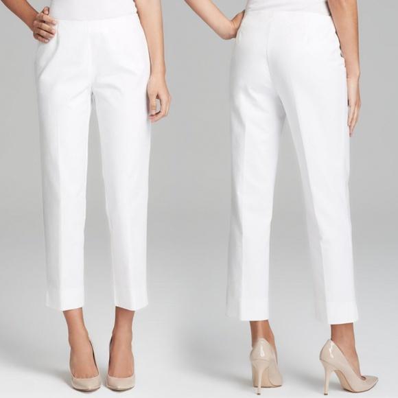 6e3505883 Lafayette 148 New York Pants - Lafayette 148 NY White Cropped Bleecker Pants